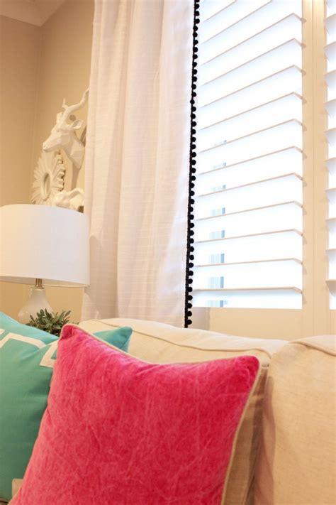 Pom Pom Trim Curtains Diy Pom Pom Trim Curtains Studio