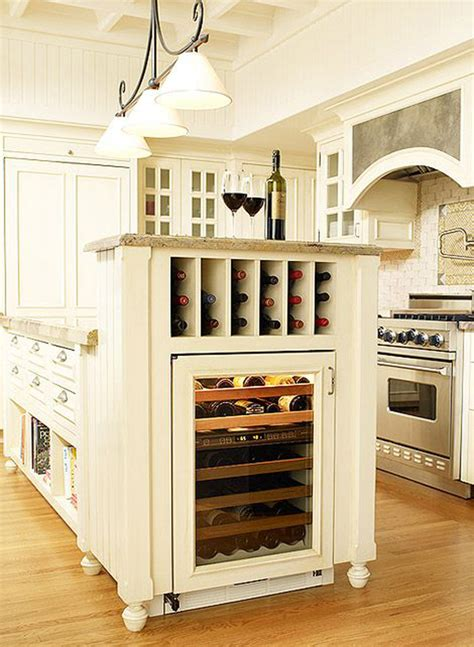 Kitchen Island With Wine Storage 10 Built In Diy Wine Storage Ideas Home Design And Interior