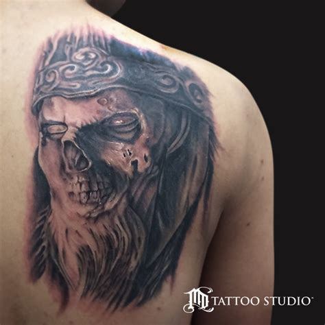 king of the dead lord of the rings tattoo web mordor