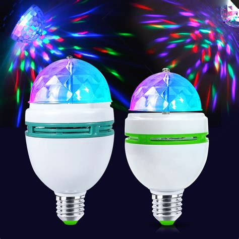led christmas night lights e27 colorful led night light rgb auto rotating stage light
