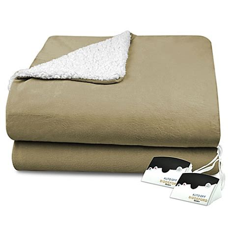 Electric Blankets Bed by Biddeford 174 Heated Micro Mink Sherpa Blanket Bed Bath