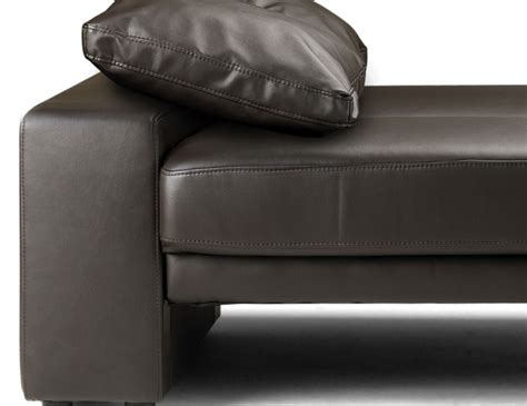 brown faux leather sofa bed supra brown faux leather sofa bed