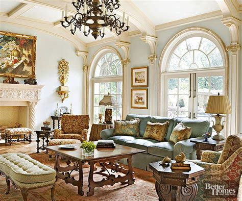 downton living room european style