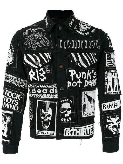 Black Graffiti Sweater 41983 lyst r13 graffiti effect denim jacket in black for