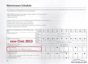 2013 Honda Accord Maintenance Schedule 2013 Honda Civic Maintenance Schedule Autos Post