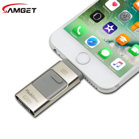 samget pendrive for iphone 7 6 6s plus 5 5s memory stick dual mobile otg micro usb flash