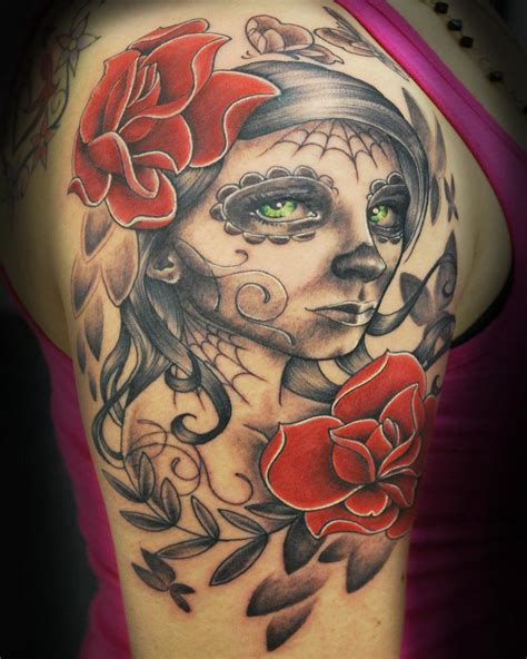 candy skull tattoo 51 skull tattoos for and inspirationseek
