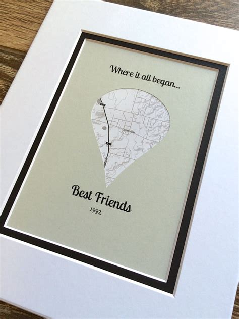 where it all began gift for best friends long distance