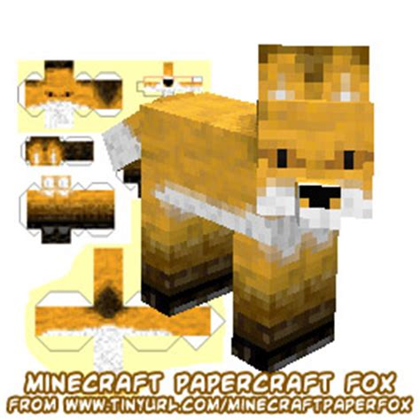 Fox Papercraft - ninjatoes papercraft weblog papercraft minecraft fox
