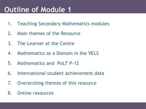 overarching themes meaning secondary math