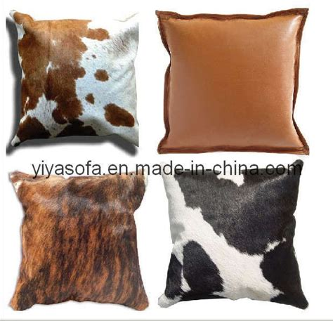 cowhide seat cushions china leather cowhide skin cushion china cushion seat