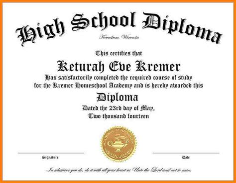free ged diploma template 10 high school diploma templates free printables