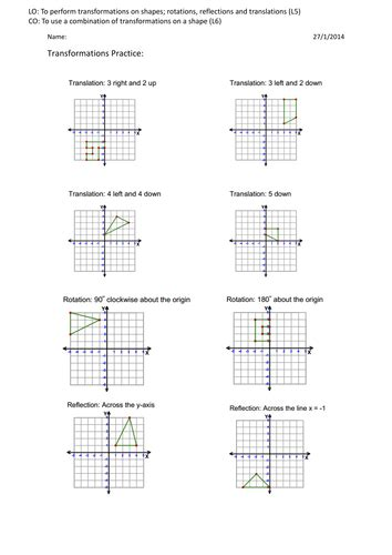 combinations of transformations worksheet worksheet combined transformations worksheet mifirental free printables worksheets for students