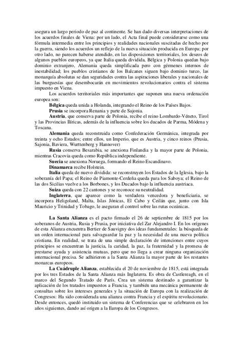 Santa alianza restauración y revolución en europa. 1815 1848.