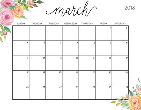 printable monthly calendar 2018 philippines march 2018 calendar for philippines calendarbuzz