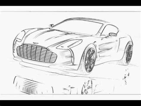auto draw aston martin one 77 part1