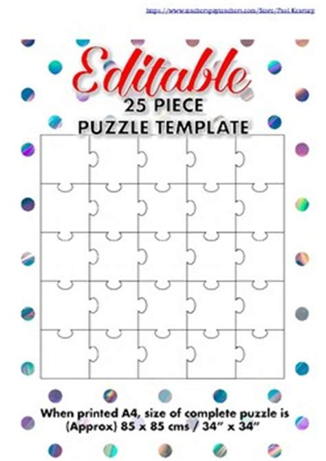 Editable 25 Piece Blank Jig By Paul Kearney Teachers Pay Teachers Editable Puzzle Pieces