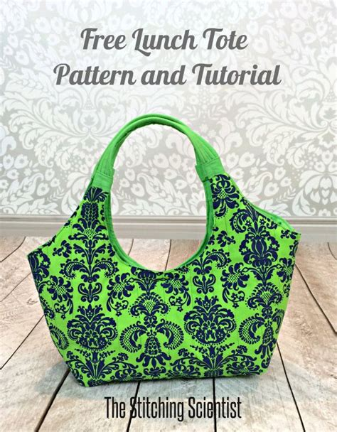 Lunch Tote Bag Pattern Free | sew a stylish lunch tote with this free printable pattern