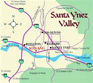 map to solvang