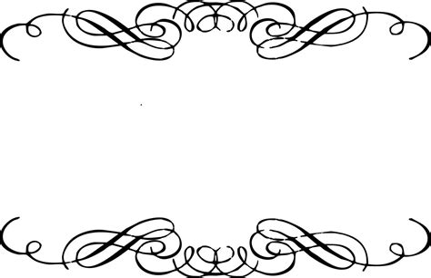 Wedding Writing Border by Line Clipart Top Border Pencil And In Color Line Clipart