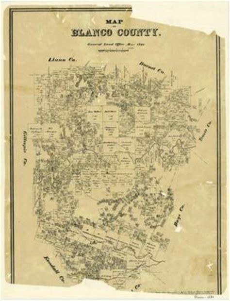 blanco county map blanco county the portal to history