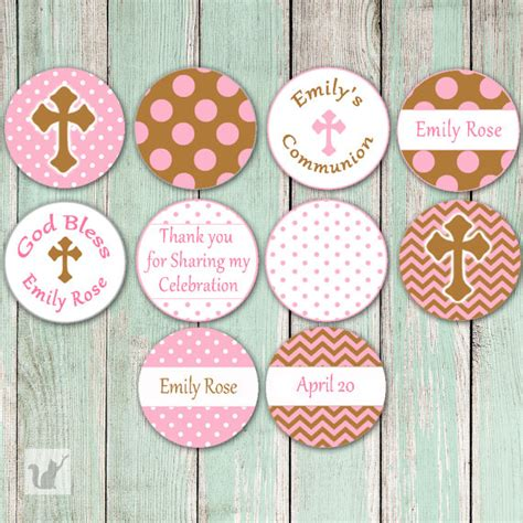 printable baptism stickers printable small candy labels girl christening baptism