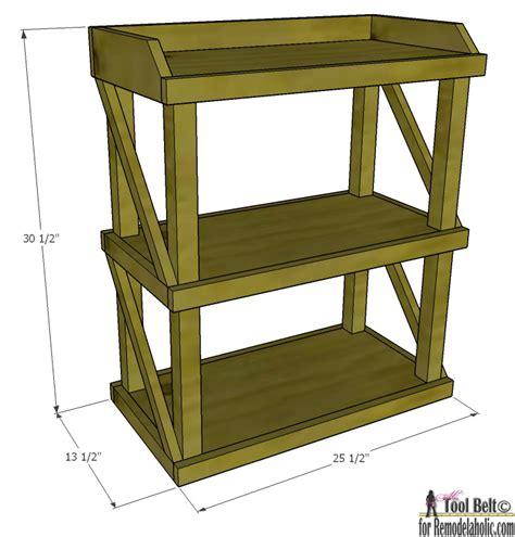 Small Shelf Remodelaholic Diy Small Open Shelf Building Plan