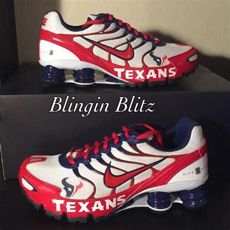 houston texans shoes unisex houston texans nike turbo shox by blinginblitz on etsy