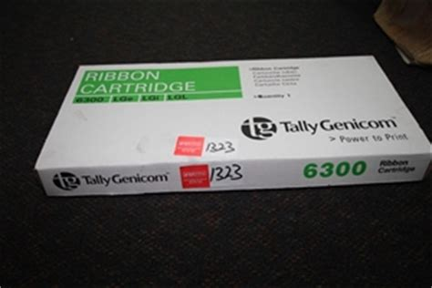 ribbon cartridge tally genicom 6300 lge lgi lgl fits models 6306 6312 lg auction 1323