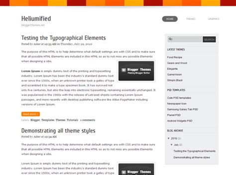 html themes for blogger heliumified blogger theme blogger themes and blogger