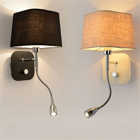 wall sconce with switch aliexpress buy led light wall switch hotel bedside wall sconce arm bedside