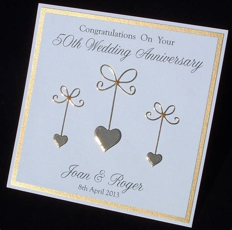 Golden Wedding Anniversary Cards Uk by Golden Anniversary Card 50th Anniversary Card Wedding
