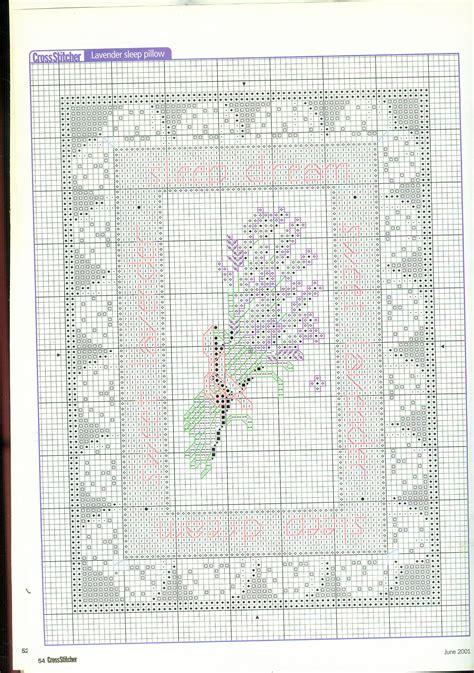 cuscini punto croce schemi cuscino con fiori di lavanda punto croce 3 magiedifilo