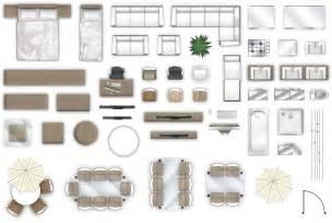 2d furniture floorplan top down view psd 3d model cgtrader com