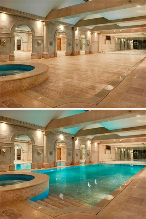 inside swimming pool walk on water hydro floors hide secret swimming pools