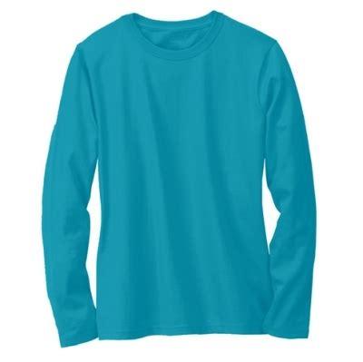 kaos polos lengan panjang warna biru turkis muda oblong