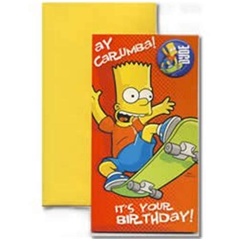 Simpsons Birthday Card The Simpsons Birthday Card Amazon Co Uk Toys Games