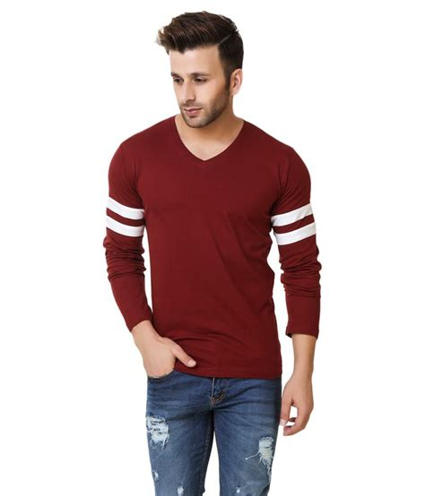 Promo Vneck Maroon fabstone collection maroon v neck t shirt buy fabstone collection maroon v neck t shirt