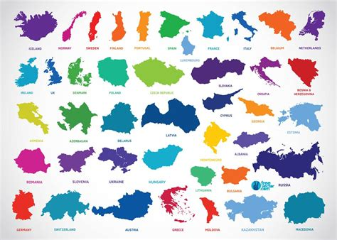 country map vector europe countries vector graphics freevector