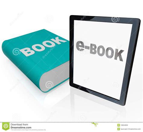 logo modernism ebook print book and e book vs new media stock illustration illustration 19604894
