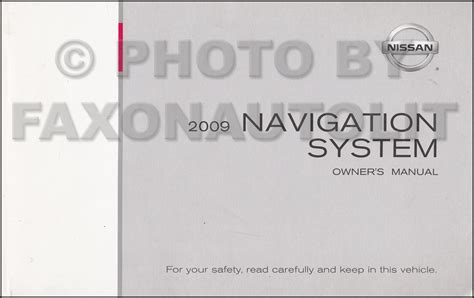 2009 nissan titan and quest navigation system owners manual original