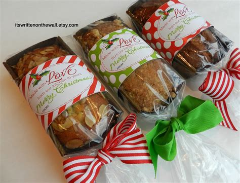 it s written on the wall add a christmas tags to your homemade christmas food gifts made with
