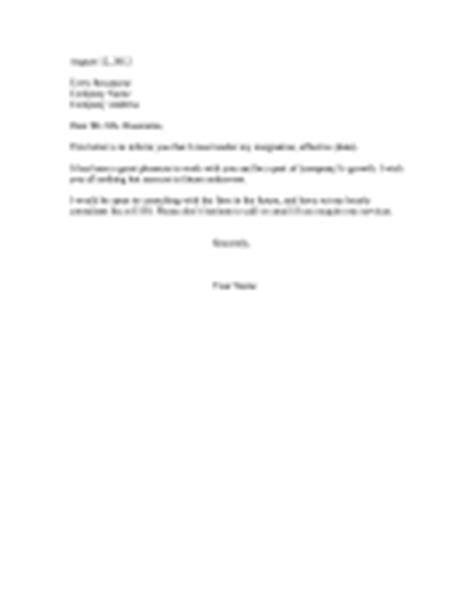Resignation Letter On Immediate Basis Resignation Letters With Specific Notice