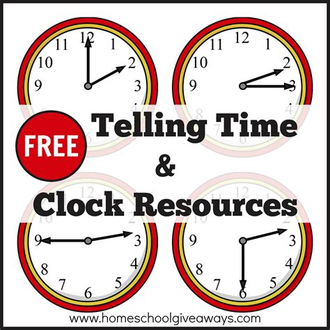 clock template for teaching time free telling time and clock resources