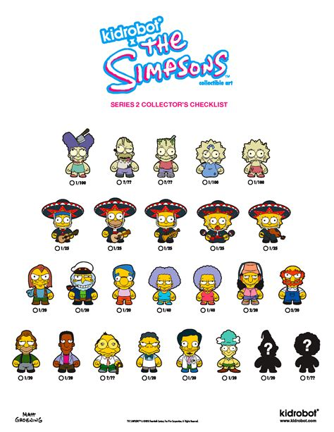 simpsons treehouse of horror figures in the rx gift shop kidrobot s simpsons series 2