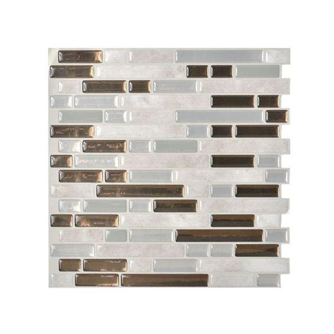 smart tiles bellagio grigio 10 125 in x 10 in peel and
