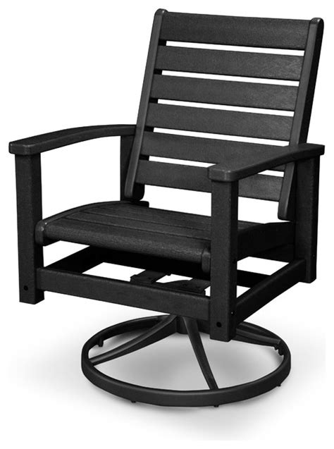 Contemporary Patio Chairs Terrace Artisan Swivel Chair Textured Black Contemporary Patio Furniture And Outdoor