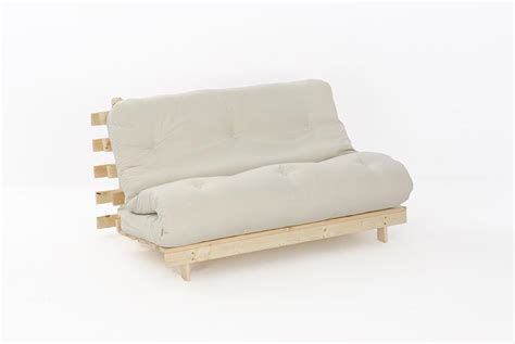 Luxury Futon Sofa Beds 4ft Premium Luxury Futon Wooden Sofa Bed Thick Mattress 11 Colours Ebay