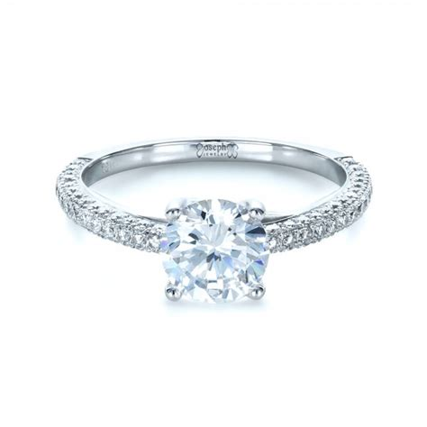 Micro Pave Engagement Rings by Micro Pave Engagement Ring 1379
