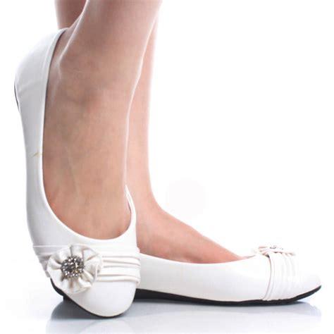white womens flat shoes white womens rhinestone flower comfortable dress ballet
